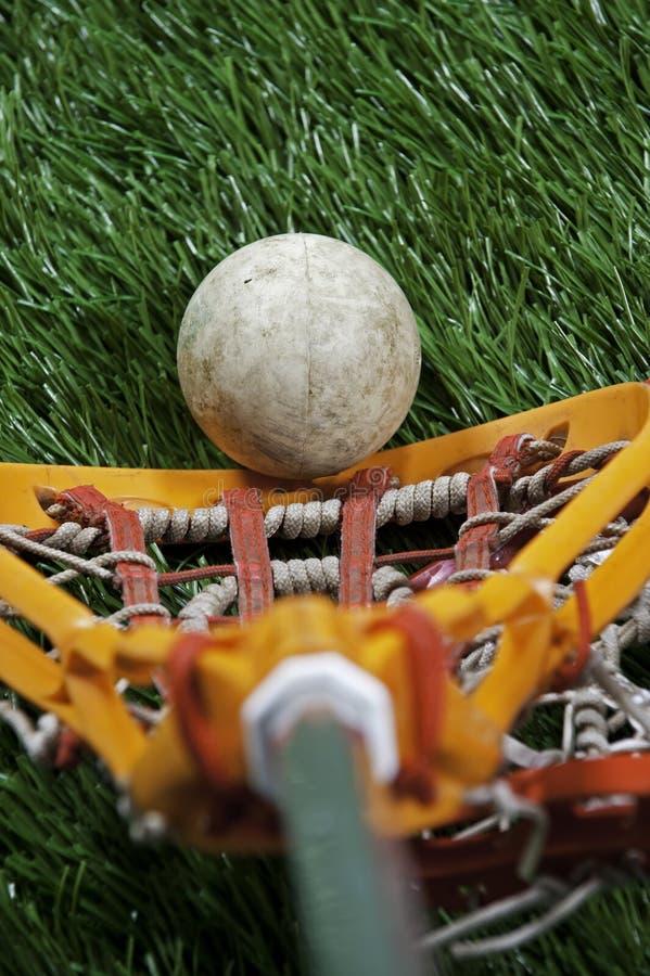 Vue de joueurs de Lacrosse images libres de droits