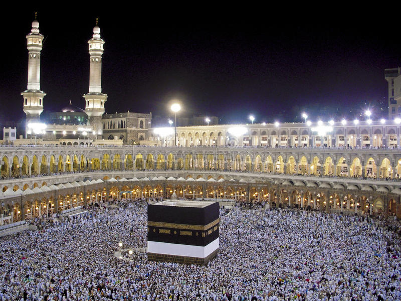 Vue de Kaaba photographie stock