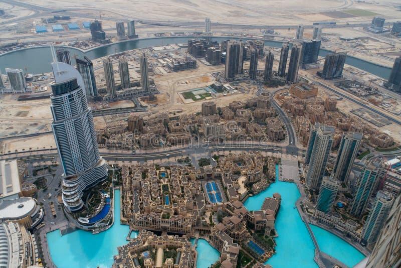 Vue de khalifa d'Al de burj, Dubaï photo stock