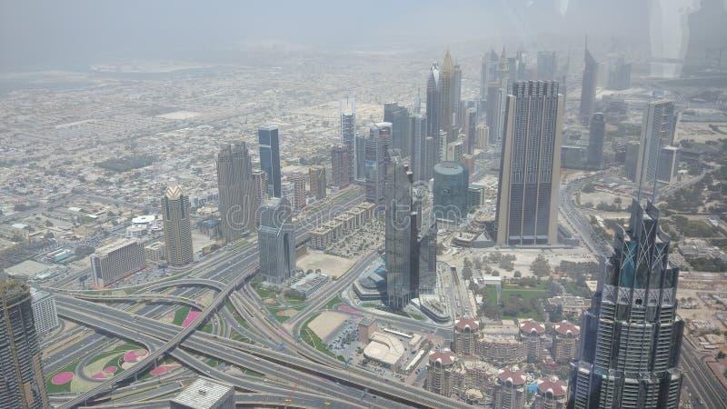 Vue de khalifa de Burj photo libre de droits