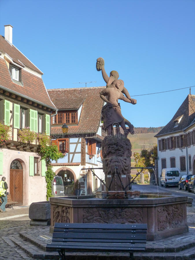Vue de Kientzheim, France images stock