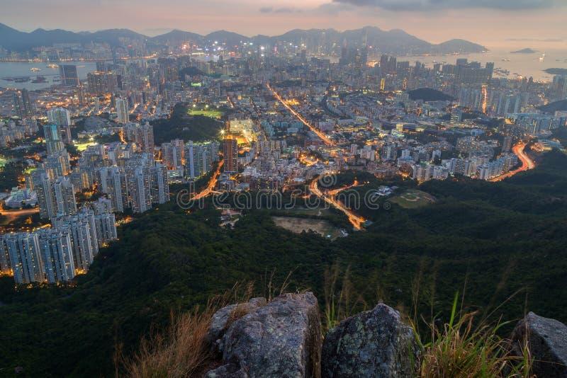 Vue de Kowloon en Hong Kong image stock