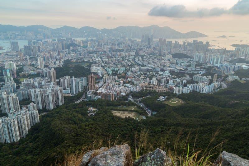 Vue de Kowloon en Hong Kong photo stock