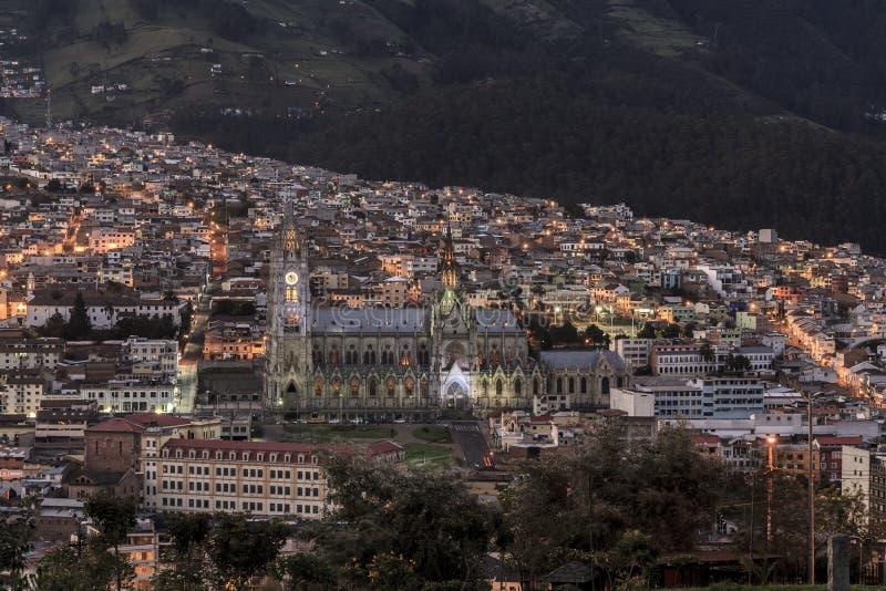 Vue de l'église de basilique d'Itchimbia images stock