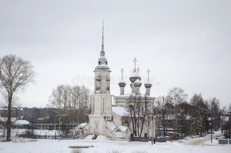 Vue de l'église de la présentation Sreteniya dans Vologda Russie images libres de droits
