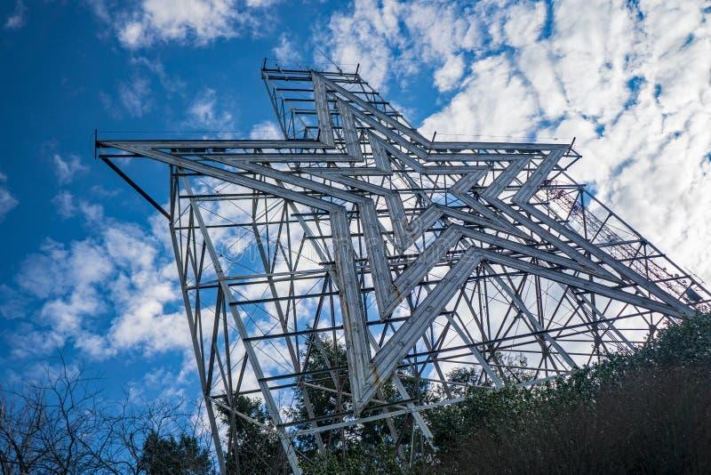 Vue de l'étoile historique de Roanoke, Roanoke, la Virginie, Etats-Unis photo libre de droits