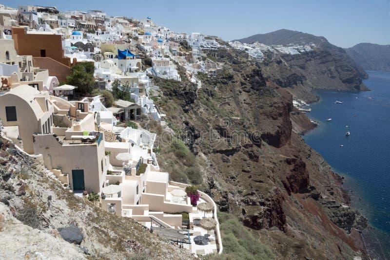 Vue de l'île de Santorini photographie stock libre de droits