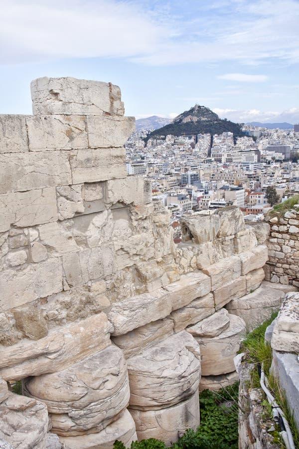Vue de l'Acropole d'Athènes à la banlieue d'Athènes photo libre de droits