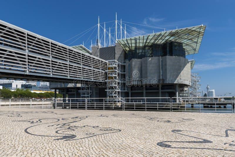 Vue de l'aquarium d'Oceanario De Lisbonne Lisbon's dans la ville de Lisbonne images stock