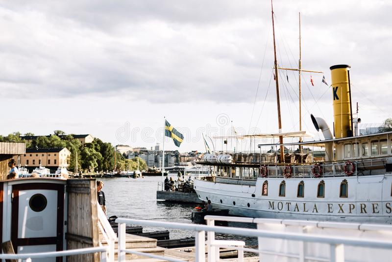 Vue de l'archipel suédois à Stockholm, Suède photos libres de droits