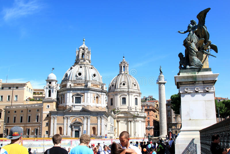 Vue de l'autel de la patrie à Rome, AIE photographie stock