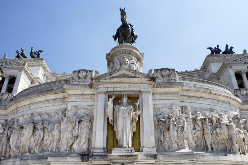 Vue de l'autel de la patrie dans Piazza Venezia photo stock
