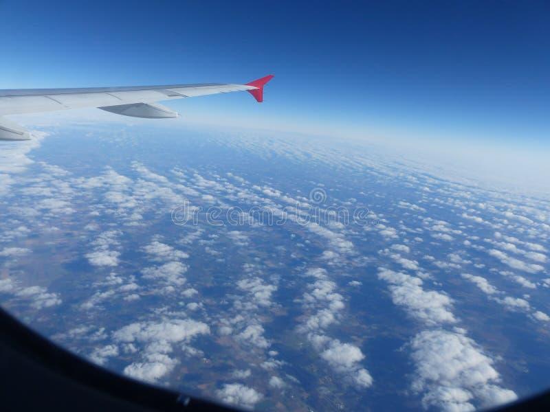 Vue de l'avion d'air images libres de droits