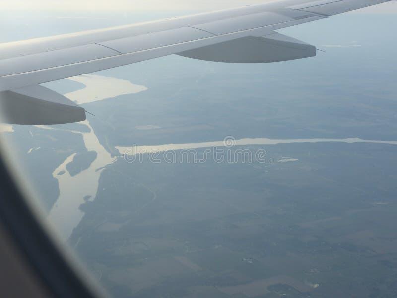Vue de l'avion d'air images stock