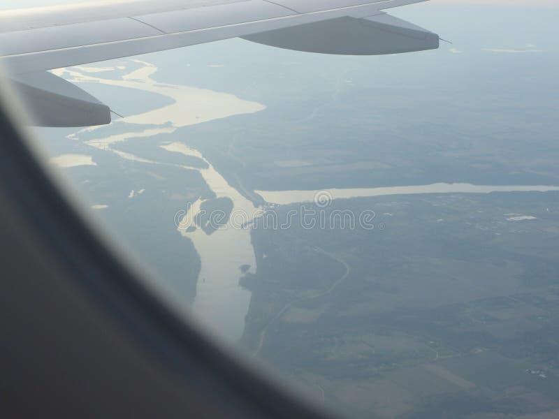 Vue de l'avion d'air image libre de droits