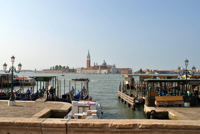 Vue de l'eau de degli Schiavoni de Riva photographie stock libre de droits