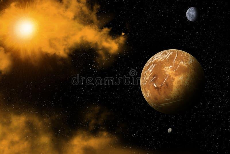 vue de l'espace image stock