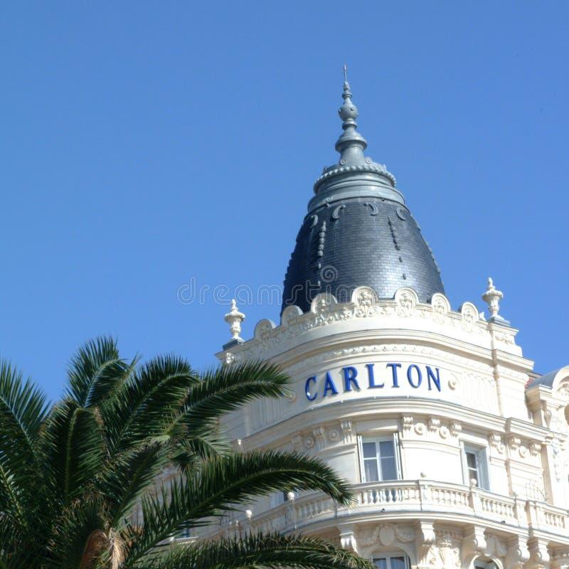 Vue de l'hôtel de carlton à Cannes photographie stock