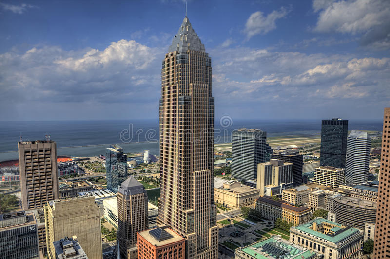 Vue de l'horizon de Cleveland image stock