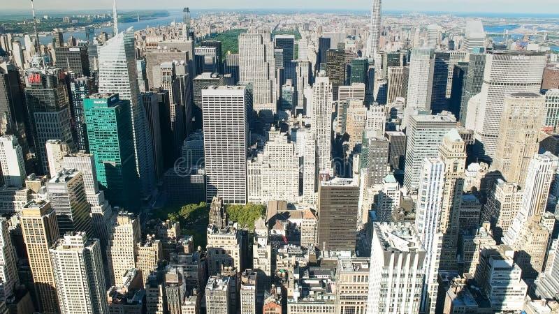Vue de l'horizon de Manhattan supérieur, ny images libres de droits