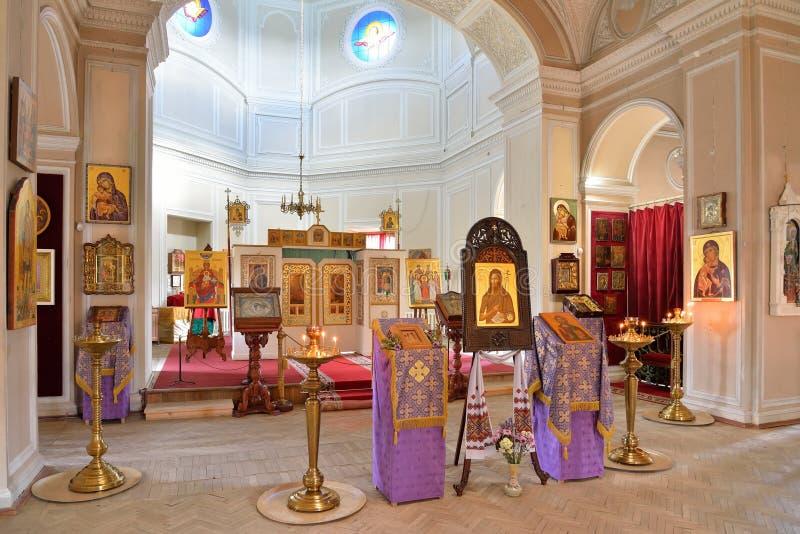 Vue de l'iconostase de la chapelle de la trinité sainte dans Gat photos stock