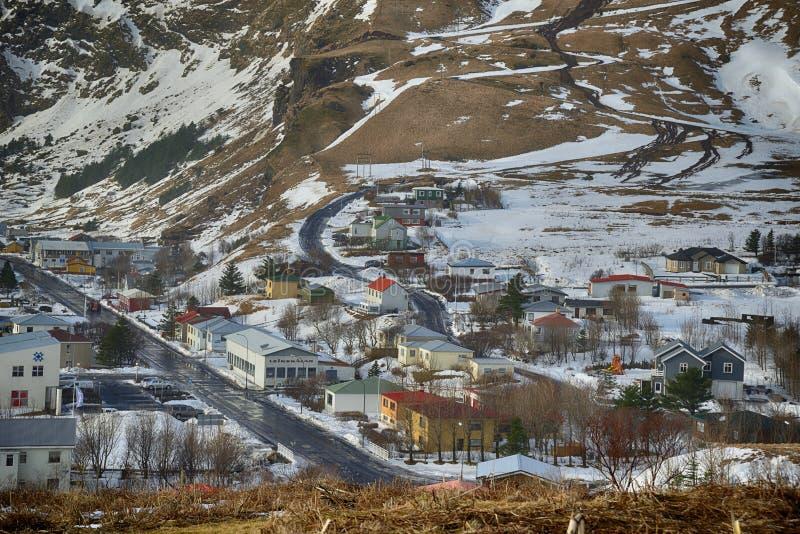 Vue de l'Islande Reynisdrangar photos stock