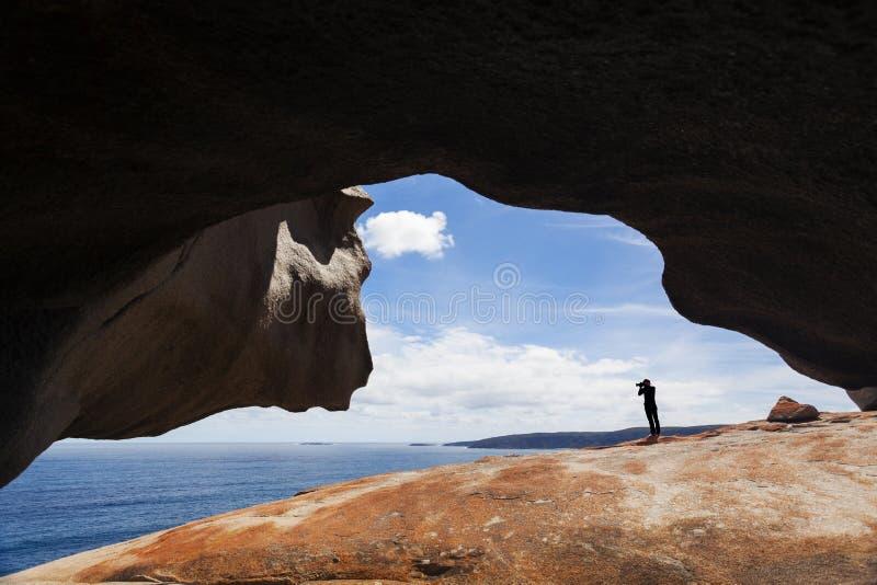 Vue de l'océan des roches remarquables sur l'île de kangourou, photo libre de droits
