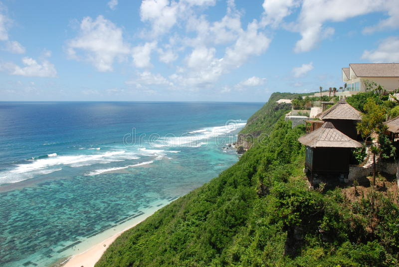 vue de l'Océan Indien d'hôtel de plage de bali belle images stock