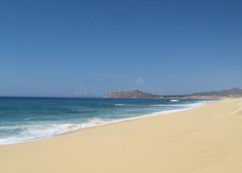 Vue de l'océan pacifique dans Los Cabos Mexique images libres de droits