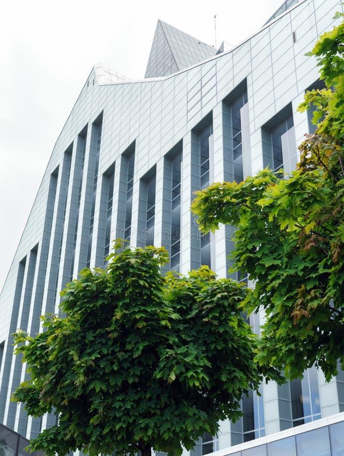 Vue de la biblioth?que nationale letton ? Riga, Lettonie, le 25 juillet 2018 image libre de droits