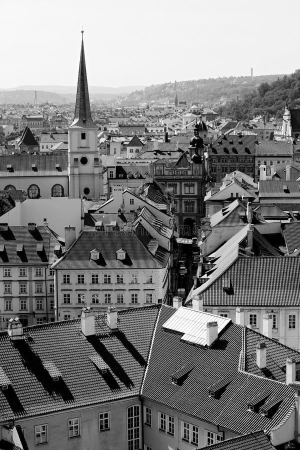 Vue de la capitale de la République Tchèque - Prague photo libre de droits