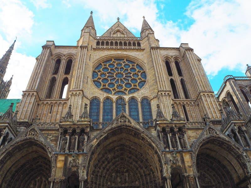 Vue de la cathédrale Notre-Dame De Chartres Ind Chartres dans le département d'Eure et de Loir du Val de Loire, France images stock