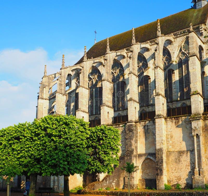 Vue de la cathédrale Notre-Dame De Chartres Ind Chartres dans le département d'Eure et de Loir du Val de Loire, France image libre de droits
