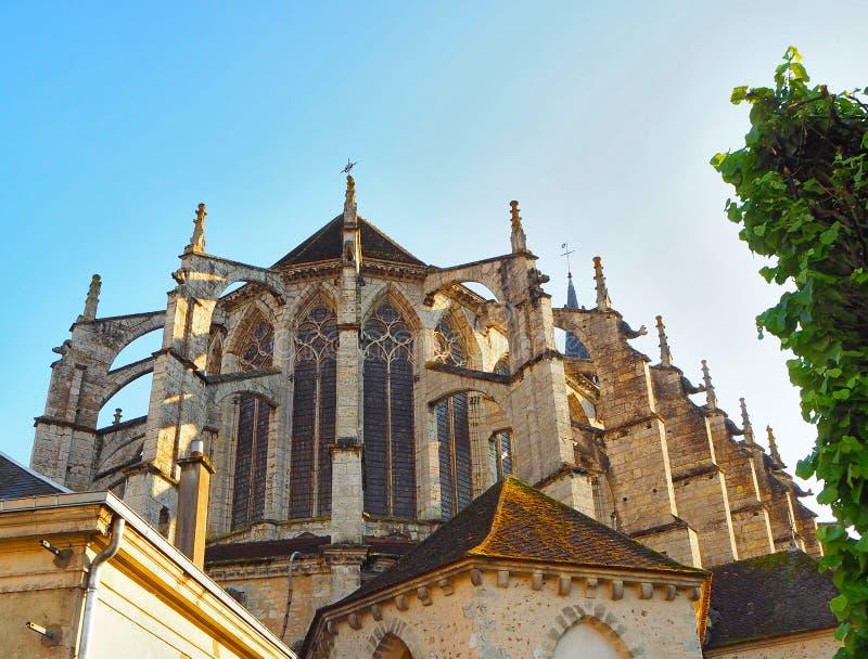 Vue de la cathédrale Notre-Dame De Chartres Ind Chartres dans le département d'Eure et de Loir du Val de Loire, France images libres de droits