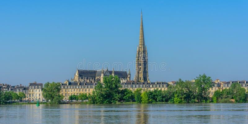 Vue de la cathédrale de St Andrew, Bordeaux, France Copiez l'espace pour le texte photographie stock