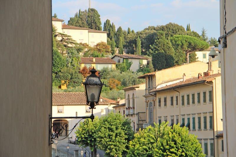 Vue de la colline chez Fiesole, Italie images stock