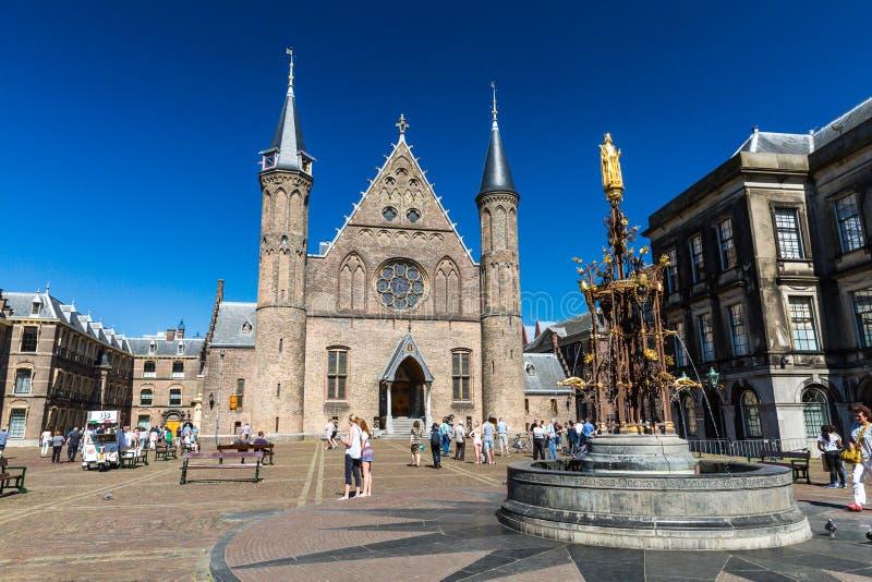 Vue de la cour ou du Binnenhof intérieure un complexe des bâtiments dans t photographie stock