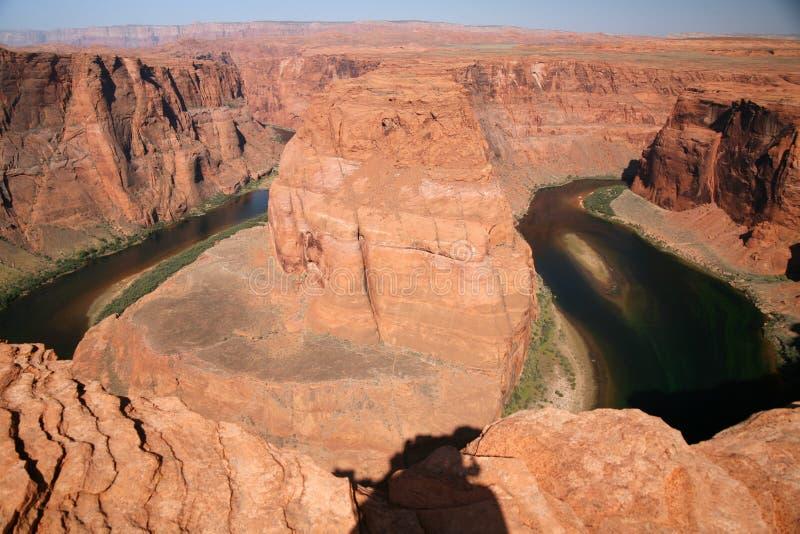 Vue de la courbure en fer à cheval en Utah, Etats-Unis image stock