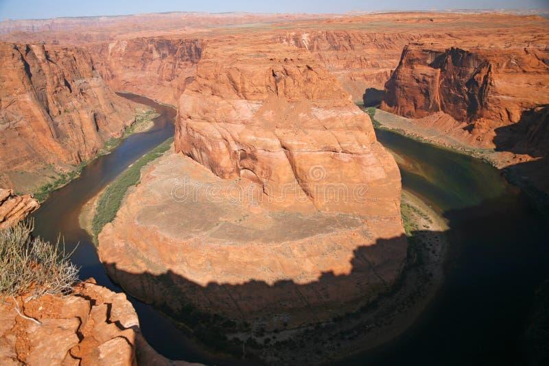 Vue de la courbure en fer à cheval en Utah, Etats-Unis images stock
