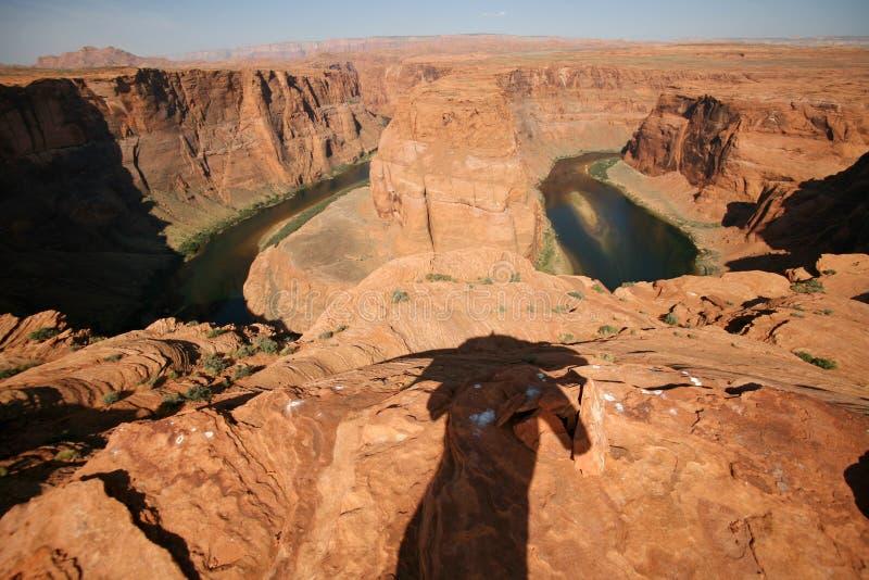 Vue de la courbure en fer à cheval en Utah, Etats-Unis photographie stock