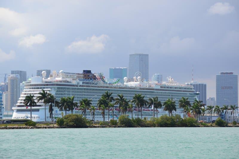 Vue de la croisière guidée à Miami photographie stock libre de droits
