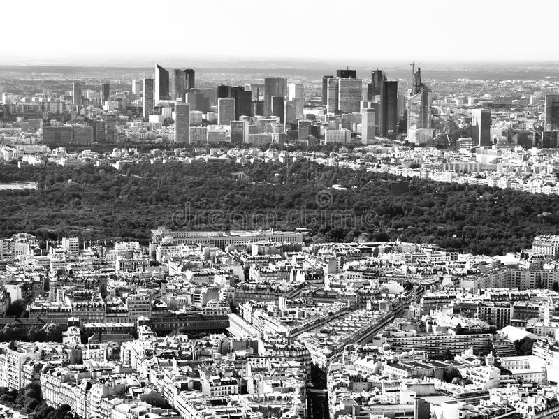 Vue de la défense parisienne de La de district des affaires images libres de droits