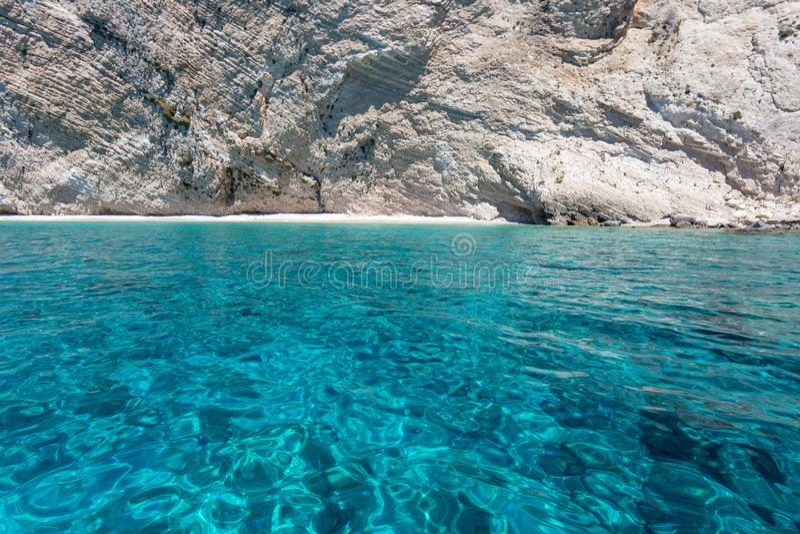 Vue de la falaise et de la mer blanches de roche photos libres de droits