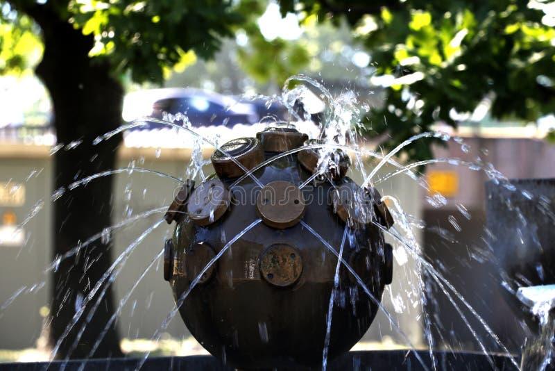 Vue de la fontaine de ville photo libre de droits