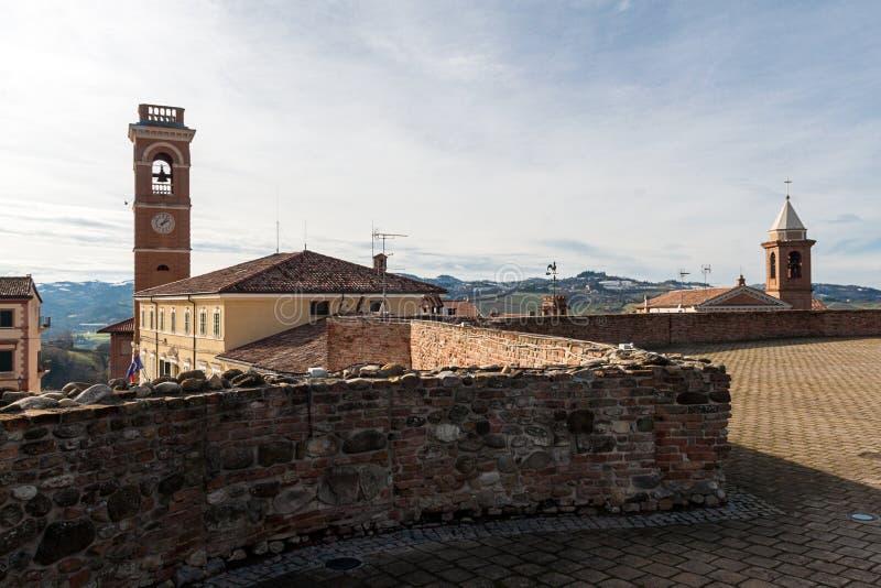 Vue de la forteresse du Malatesta du montiano image libre de droits