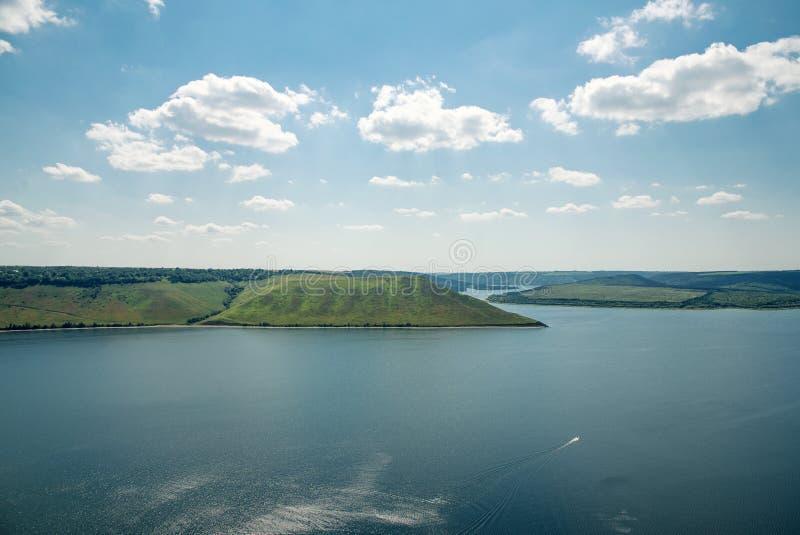 Vue de la grande rivière image libre de droits