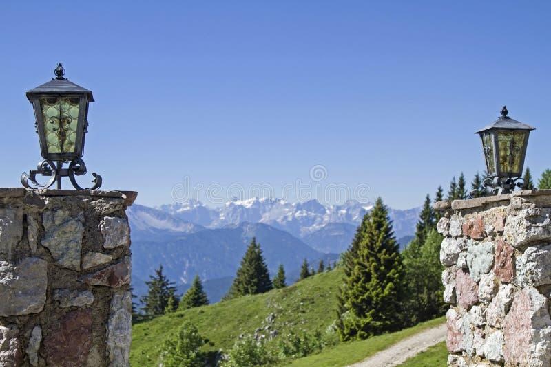 Vue de la hutte de montagne image libre de droits