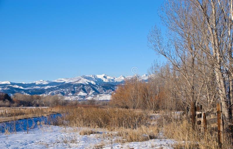 Vue de la ligne de partage de Contental dans le Colorado en hiver images stock