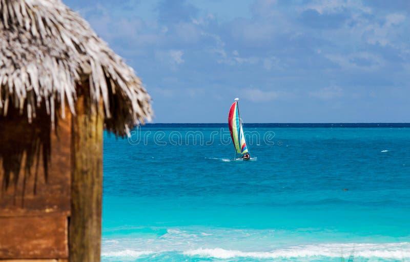 Vue de la maison de plage photographie stock libre de droits