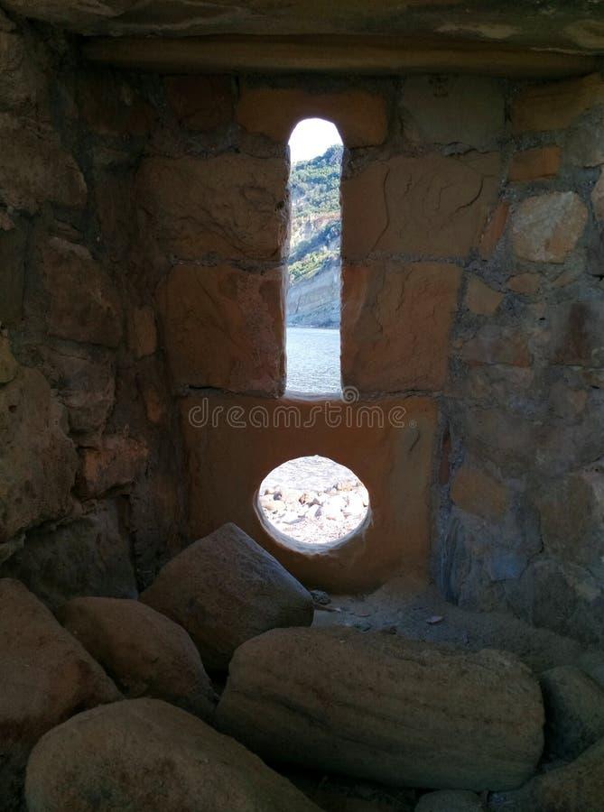 Vue de la Mer Adriatique du château de Rodon, Albanie photographie stock